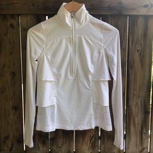 LULULEMON Sun Runner Hybrid pullover white size 4